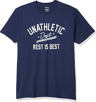 Hanes Mens Graphic Tee-Humor, Unathletic Department Navy, Medium