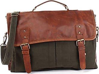 e7cbce925ab8a3 Leconi Collegetasche großes Messenger Bag Tasche Arbeitstasche für Herren &  Damen DIN A4 Schultasche Umhängetasche aus