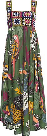Farm Vestido Crochê Bosque Tropical Farm - Verde
