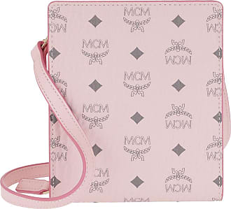 MCM Cross Body Bags - Visetos Original New Multi Lanyard Powder Pink - rose - Cross Body Bags for ladies