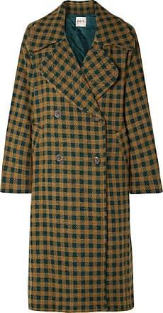 Sea New York Ethno Pop Oversized Checked Wool-blend Coat - Green