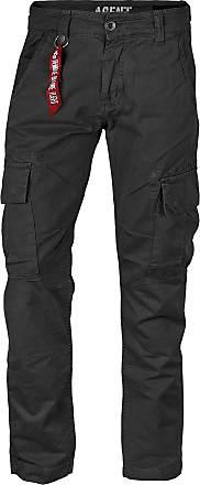 Alpha Industries Agent Pant Cargo Hose schwarz, Größe 36