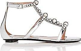 Samuele Failli Womens Kandy Leather Sandals - Silver Size 5.5