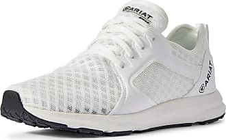 Ariat Womens Fuse Sneakers Shoes in White, B Medium Width, Size 3.5, by Ariat