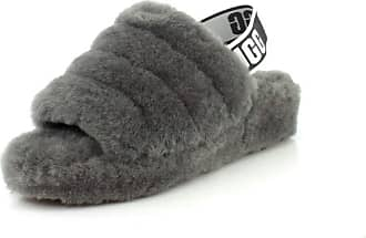 UGG Fluff Yeah Slide Slipper, Charcoal, 3 UK
