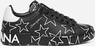 Dolce & Gabbana Portofino stars print calfskin sneakers - DOLCE & GABBANA - man