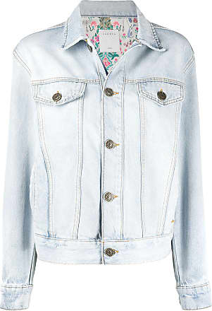 Sandro single-breasted denim jacket - Blue