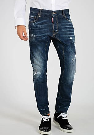cfdaaba495b Dsquared2 Jeans TIDY BIKER in Denim Stretch 17cm taglia 54