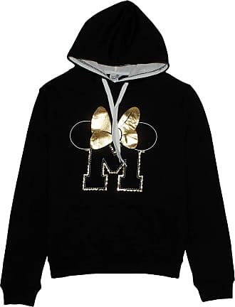 Disney Minnie Mouse Ladies Gold Bow Hoodie Jumper Black Medium (10 UK)
