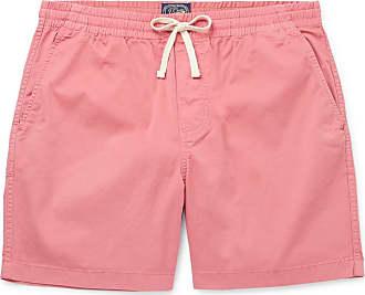 J.crew Dock Garment-dyed Stretch-cotton Drawstring Shorts - Pink