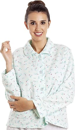 Camille Womens Floral Button Mock Quilt Bed Jacket 18/20 Mint