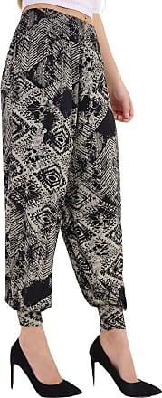 Momo & Ayat Fashions Ladies Floral Aztec Tyedye Jersey Relaxed Lounge Alibaba Hareem Harem Pants UK Size 8-26 (M/L (UK 12-14), Tyedye Square)