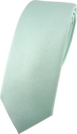 TigerTie Mens Plain Necktie green Mint green One size
