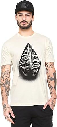Volcom Camiseta Volcom Manga Curta Yarn Off-White d8f337ddabe