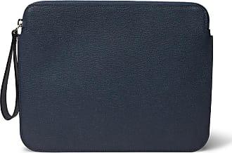 Valextra Pebble-grain Leather Ipad Case - Navy