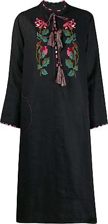 Vita Kin Vestido com bordado floral - Preto