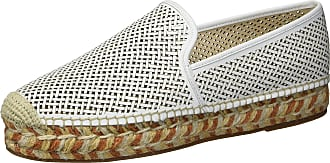 Vince Camuto Womens Hamorra Espadrille Wedge Sandal, Crisp White/Brown Multi, 5.5 UK