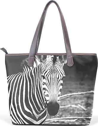 NaiiaN Purse Shopping Tote Bag Handbags Golf Leather Zebra Light Weight Strap Shoulder Bags for Women Girls Ladies Student