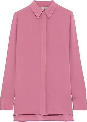 Vince Vince. Woman Silk-chiffon Shirt Pink Size 10