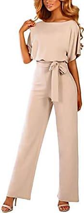 Minetom Damen Sommer Strand V-Ausschnitt Rei/ßverschluss Vorne Jumpsuit Kurz Hose Overall Romper Playsuit Weste Shorts Clubwear