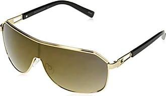 Rocawear Mens R1490 Gldbk Non-Polarized Iridium Shield Sunglasses, Gold Black, 75 mm