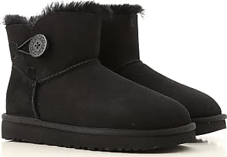 UGG Kiernan Black Suede Sheepskin Wedge Ankle BOOTS US 7 EUR 38
