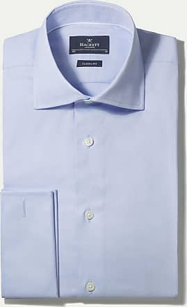 Hackett Mens Pinpoint Double Cuff Shirt | Size 150 | White