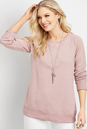 1ea62e99943 Maurices Basic Solid Burnwash Pullover Sweatshirt