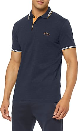 BOSS Mens Paul Curved Polo Shirt, Blue (Navy 413), Xx-Large