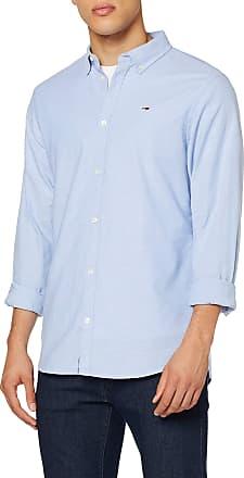 Tommy Jeans Mens TJM Stretch Oxford Shirt Casual, Blue (Blue 414), XX-Large (Size:XXL)