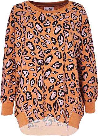 A Postcard From Brighton Sara Coral Leopard Print Zip Sweater