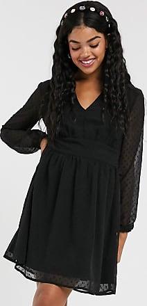 Pimkie dobby spot smock dress in black