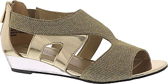 Easy Street womens 31-0112 Abra Gold Size: 11 Wide