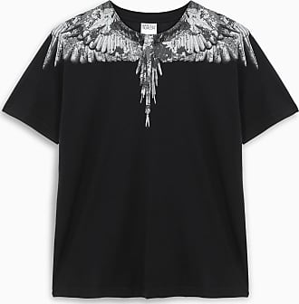 Marcelo Burlon Black and grey S/S Camou Wings t-shirt