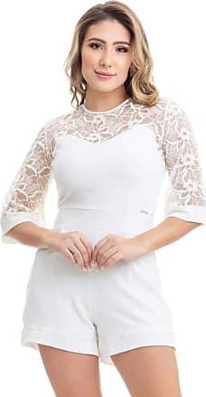 Clara Arruda Macaquinho Clara Arruda Renda Bordada 80025 - M - Off White