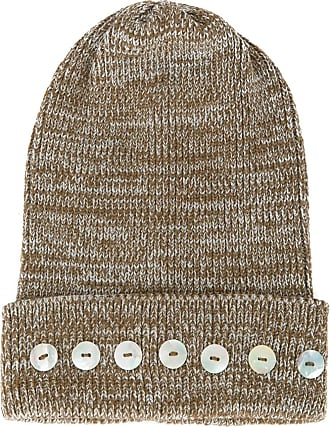 0711 Isola button-embellished beanie - Brown