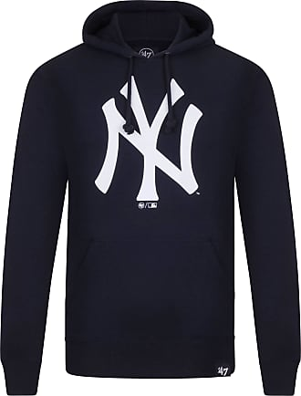 47 Brand Mens MLB New York Yankees Po Hoodie Sweatshirt, Blue (Navy 353209), Large