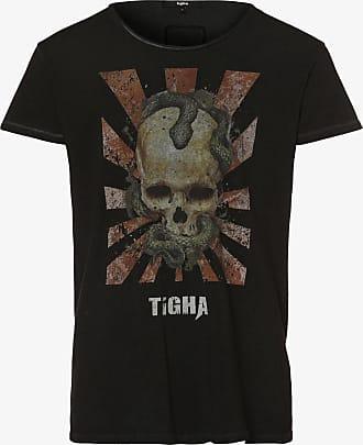 Tigha Herren T-Shirt - Snake Skull Wren schwarz