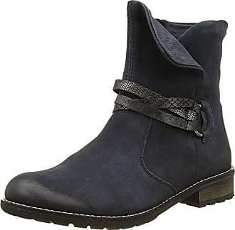 Remonte Damen R3338 Biker Boots, Blau (Pazifik Ozean schwarz-Silber  9b22712c64