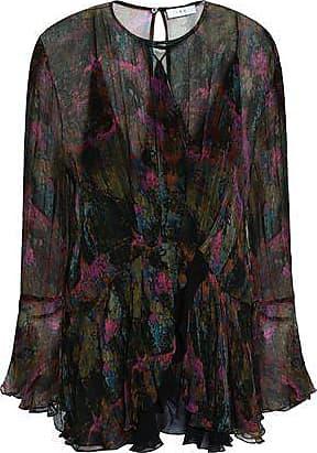 Iro Iro Woman Printed Georgette Blouse Fuchsia Size 34