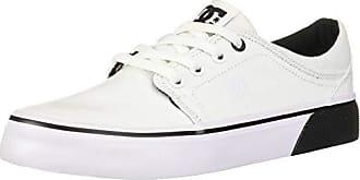 DC Womens Trase TX Skate Shoe, White/Black, 5.5 M US