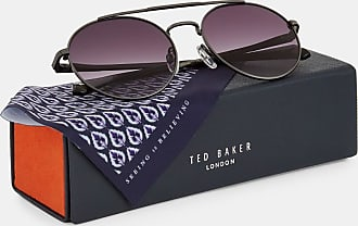 Ted Baker Round Sunglasses in Black WARNAR, Mens Accessories