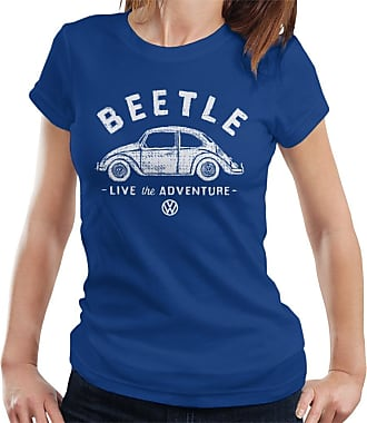 Volkswagen Beetle White Live The Adventure Womens T-Shirt