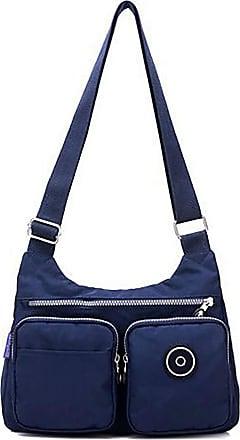 GFM Womens Nylon Waterproof Cross Body Shoulder Bag (S1-3121-GHNL)