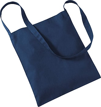 Westford Mill Womens Cotton Promo Sling Tote Everyday Shoulder Bag French Navy One Size