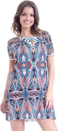 101 Resort Wear Vestido 101 Resort Wear Raglan Saida de Praia Estampado Tribal Multicolorido