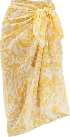 Eres Abstract-print Cotton-voile Sarong - Womens - Yellow