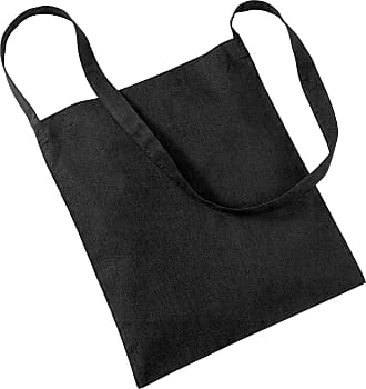 Westford Mill Womens Cotton Promo Sling Tote Everyday Shoulder Bag Black One Size