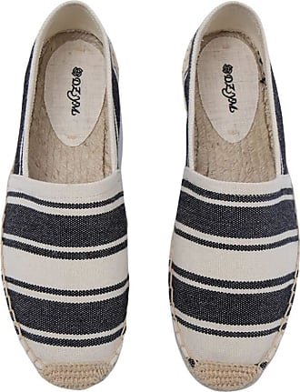 ICEGREY Womens Causal Loafer Flat Slip On Espadrille Black Strips UK 4.5