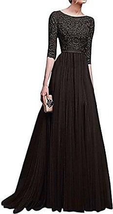 Lange abendkleider in schwarz